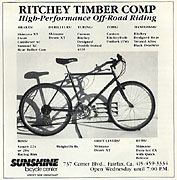 Ritchey Timber Comp - 1984