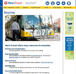 Metro Transit - Bleriot on the Bus Rack