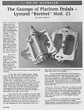 Lyotard Berthet Model 23 Pedal