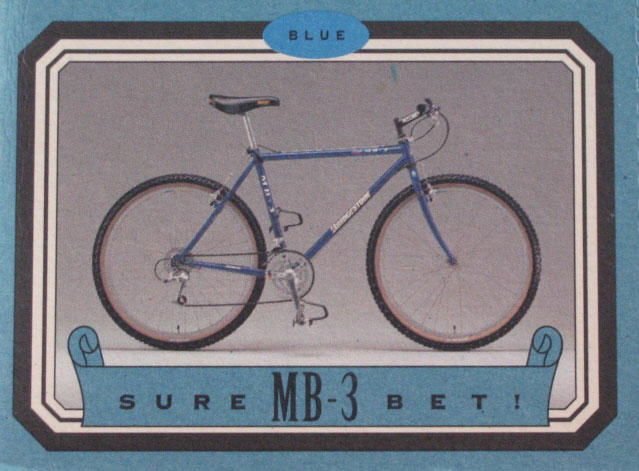 Bridgestone Bicycle Catalog Bridgestone Mb-3 Catalog